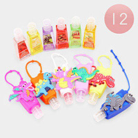 12PCS - Hand Sanitizer With Colorful Silicone Dinosaur Holders