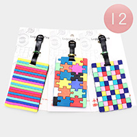 12PCS -  Puzzle Luggage Tags
