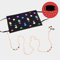 Evil Eye Accented Mask Chain / Glasses Chain