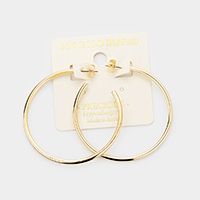 14K Gold Dipped 1.8 Inch Hypoallergenic Half Hoop Earrings