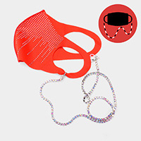 Round Stone Mask Chain / Glasses Chain