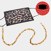 Celluloid Acetate Tortoise Link Mask Chain / Glasses Chain