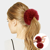 Fox Fur Wrist Cuff Arm Warmer Gloves / Scrunchies Hair Band