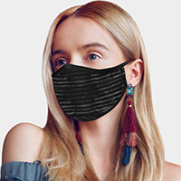 Crinkle Solid Check Mask