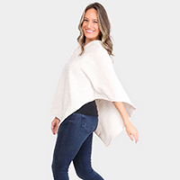 Solid Color Poncho