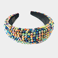 Faceted Stone Pave Padded Headband