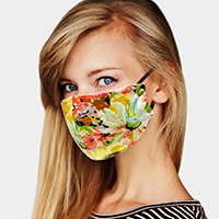Colorful Floral Print Fashion Mask