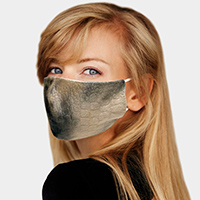Crocodile Textured Fashion Mask