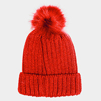 Cable Knit Pom Pom Beanie Hat