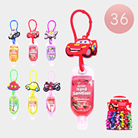 36PCS - Hand Sanitizer with Car Transportation Silicone Holders