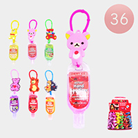 36PCS - Hand Sanitizer with Bear Silicone Holders