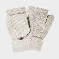 Faux Fur Pop Pop Mittens Gloves