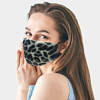 Leopard Pattern Print Fashion Mask