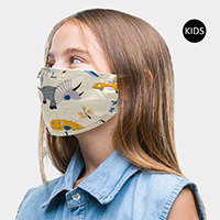Dinosaurs Print Kids Fashion Mask