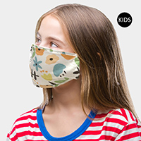 Floral Print Kids Fashion Mask