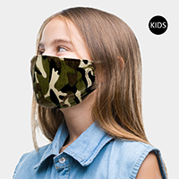 Camouflage Print Kids Fashion Mask