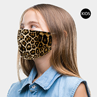 Leopard Print Kids Fashion Mask