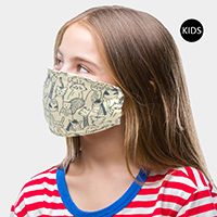 Animal Cartoon Print Kids Fashion Mask