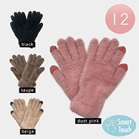 12Pairs -Fuzzy Smart Touch Gloves