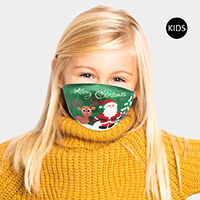 Merry Christmas Santa Claus Rudolph Print Kids Fashion Mask