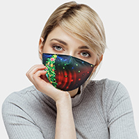 Christmas Tree Print Fashion Mask