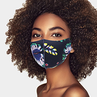 Tropical Leaf Print Fashion Mask
