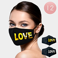 12PCS - LOVE Print Fashion Masks
