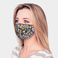 Flower Print Cotton Fashion Mask