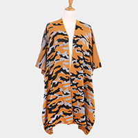 Camouflage Pattern Poncho