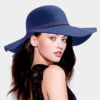 Cotton Blend Felt Floppy Hat