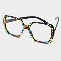 Stone Embellished UV Protection Glasses