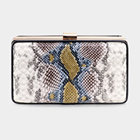 Snake Skin Pattern Crossbody / Clutch Bag