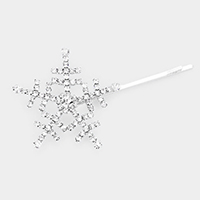Bubble Stone Snowflake Hair Bobby Pin