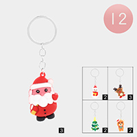 12PCS - Christmas Theme Key Chains