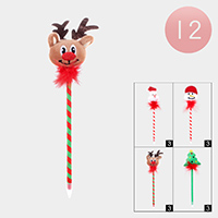 12PCS - Christmas Theme Ball Point Pens