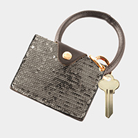 Sequin Card Holder Key Chain / Bracelet