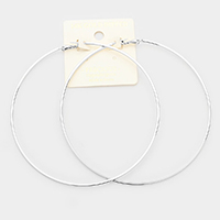 14K Gold Dipped 4 Inch Metal Hypoallergenic Hoop Earrings