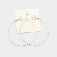 14K Gold Dipped 2.25 Inch Metal Hypoallergenic Hoop Earrings