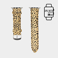 Genuine Leather Cheetah Apple Watch Band