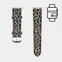 Genuine Leather Leopard Apple Watch Band