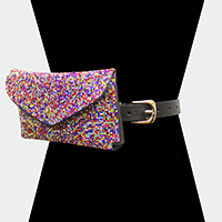 Colorful Rhinestone Pave Clutch / Belt Bag / Fanny Pack