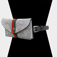 Color Block Rhinestone Pave Clutch / Belt Bag / Fanny Pack