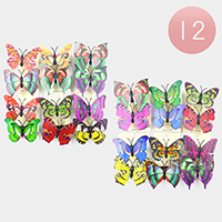 12 Set of 2 - Butterfly Alligator Hair Clips