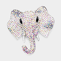 Rhinestone Elephant Pin Brooch