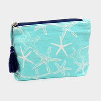 Starfish Pattern Tassel Pouch Bag