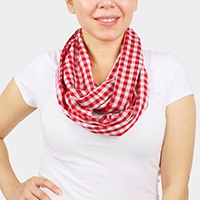 Gingham Check Infinity Scarf