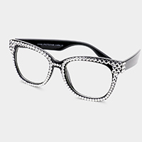 Stone Embellished UV Protection Optical Glasses