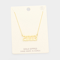 2003 Gold Dipped Birth Year Pendant Necklace