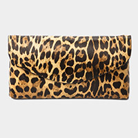 Leopard Pattern Faux Leather Wallet on Chain Crossbody / Belt Bag / Fanny Pack