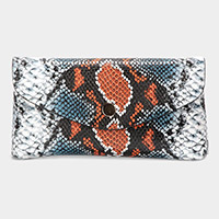 Python Snake Pattern Faux Leather Wallet on Chain Crossbody / Belt Bag / Fanny Pack